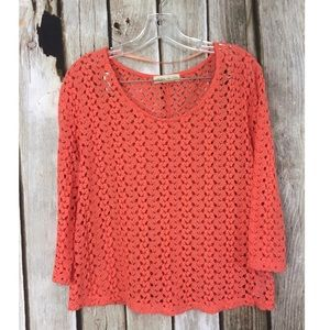 Urban Outfitters Staring At Stars Eyelet Knit Top
